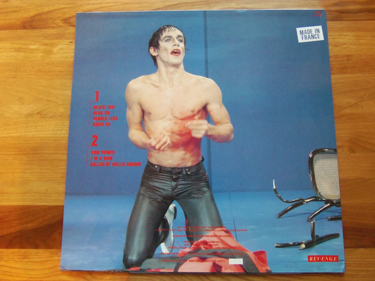 Iggy And The Stooges Death Trip Revenge Black Vinyl Reverse Cover 1988 Ep