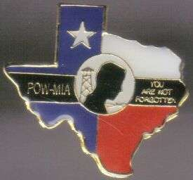 12 Pins - POW MIA TEXAS , flag hat lapel pin #629