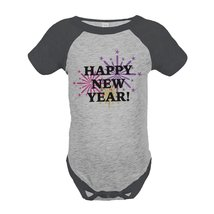 Custom Party Shop Baby's First New Year Onepiece Grey 6 Months - ₹1,439.48 INR