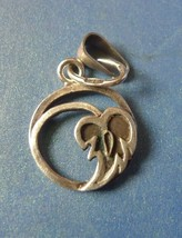Vintage Retro USSR Soviet Jewelry Silver 875 Pendant Leaf marked - $27.72