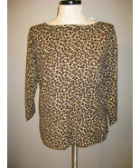 Charter Club Leopard Print Knit Top Size XL - $21.00