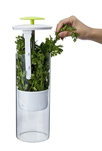Breathable Fresh Herb Keeper and Storage Container by NOVART Keeps herb_keeper