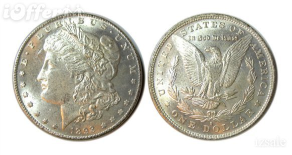 Used, Silver Morgan Dollar 1893 S Replica 27 g for sale  USA
