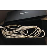 NWT CHANEL WHITE PEARL 5-STRAND NECKLACE with C... - $2,205.99