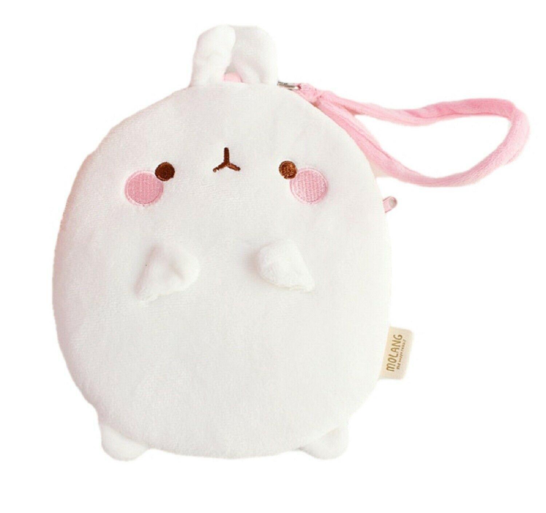 Molang Cosmetic Makeup Pen Strap Pouch Bag Case (White)