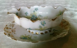 Antique Theodore Haviland Limoges France Gravy Boat With Attached Underp... - $22.00