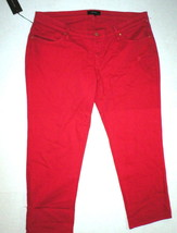 NWT $180 New James Jeans Icon Plus Size Boyfriend 16 Poppy True Red Womens  - $180.00