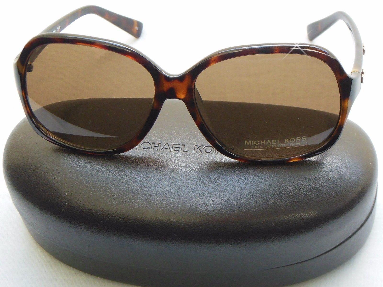 748bf59b95 NEW Michael Kors M2743S Palo Alto Studded Sunglasses Dark Tortoise W Case