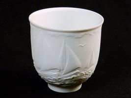 "Lladro ""Sailing The Seas"" 1997 Collector's Cup ~ Sailboat Regatta w/Gull... - $14.65"
