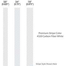 """5/8"""" inch wide Solid Custom Pinstripes / CARBON... - $9.99"""