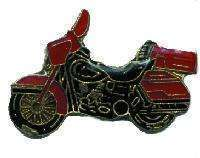 12 Pins - RED MOTORCYCLE , hat lapel pin #1909