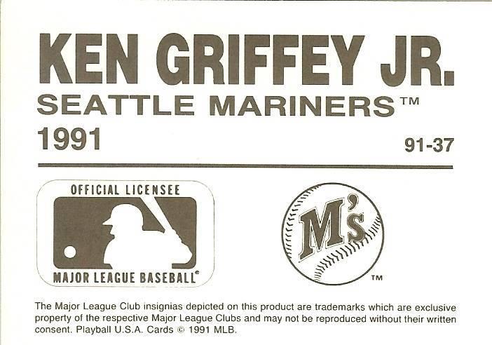 1991 ken griffey jr seattle mariners oddball baseball card rare