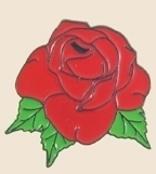 12 Pins - RED ROSE , flower hat roses lapel pin sp160