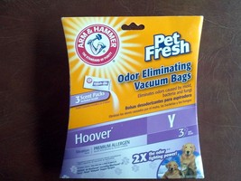 *New* Arm & Hammer Odor Eliminating Vacuum Bags Hoover Y (3 Bags) - $7.77