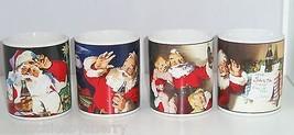 Coke Coca Cola Christmas Santa Claus Holiday Portaits Coffee Mug Lot of 4 - $79.95