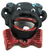 CAST IRON- Set of 2 Colorful Clown Bottle Opener Wall Mounted - $14.84