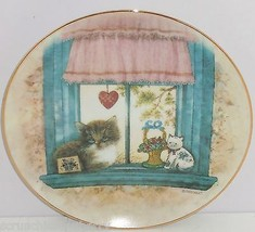 Cat Window Collector Plate Knowles Wistful Morning Purrfect Point View R... - $59.95