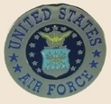 12 Pins - ROUND UNITED STATES AIR FORCE usaf pin sp033 - $12.00