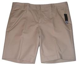 Liz Claiborne Emma Bermuda Shorts Womens Size 18 Khaki Cotton Flat Front... - $14.00