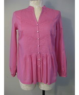 Emma James Long Sleeve Pink Blouse Size 10 New - $24.00