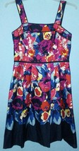 Adrianna Papell Retro Style Colorful Floral Sundress Size 10 Cruise Vaca... - $24.72