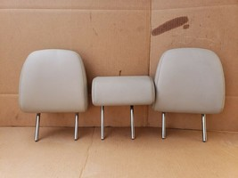 12-14 Prius-V Second Row Seat Rear Headrest Head Rest Set Softex Faux-leather
