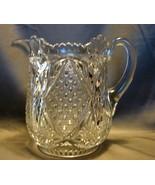 "American Brilliant Clear Cut Glass Water Pitcher 7 "" - $44.99"