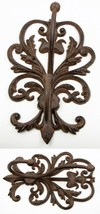 Large Elegant Cast Iron Wall Double Hook Wall Decor Brand New - $24.74