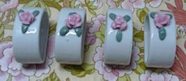Vintage Ceramic NAPKIN RINGS Shabby Cottage Chic Table Decor - $8.00