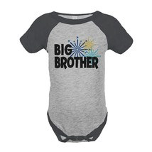 Custom Party Shop Baby's Big Brother Happy New Year Onepiece Grey 6 Months - $20.58