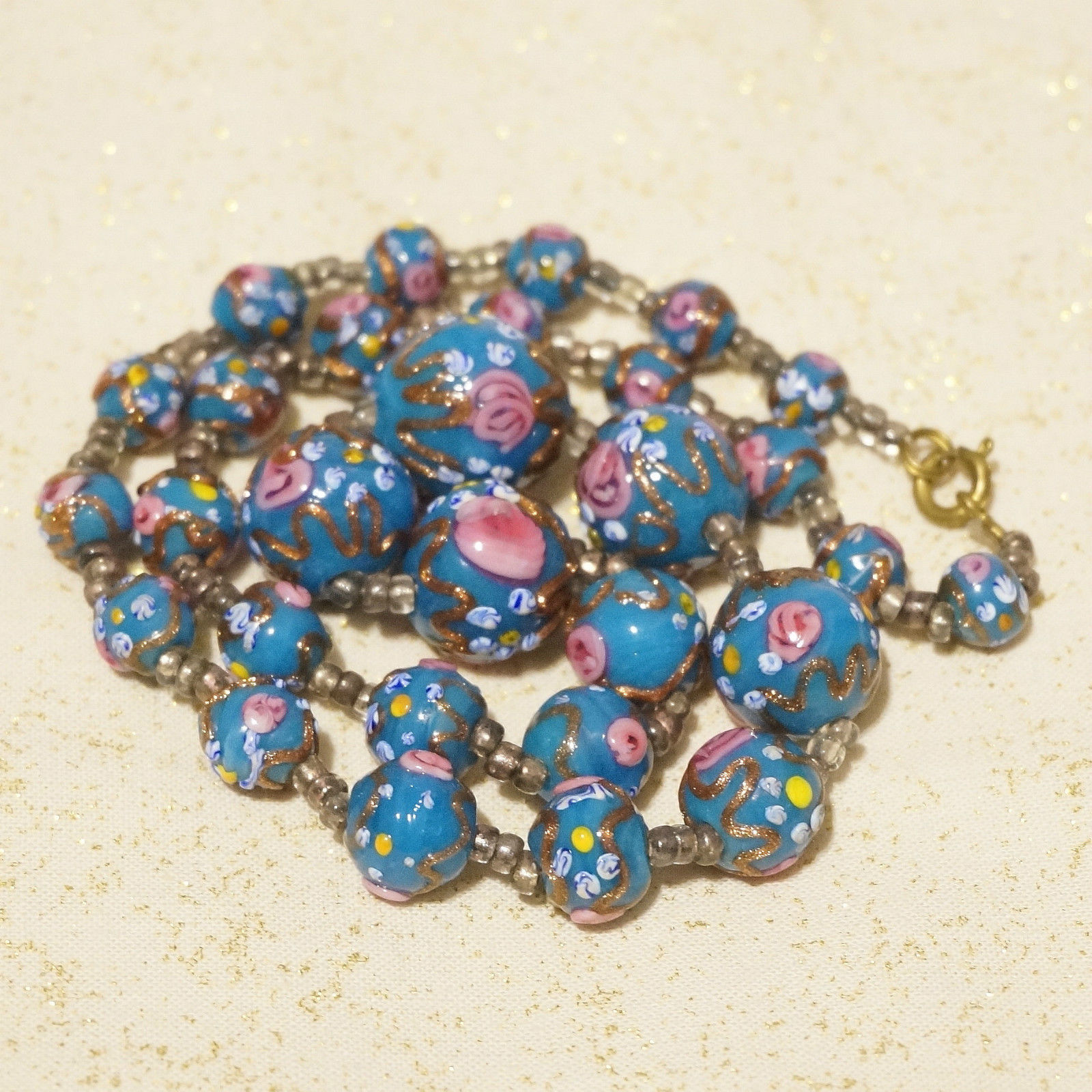 Special Offer Antique Venetian Glass Beads Necklace Up To 78 Off