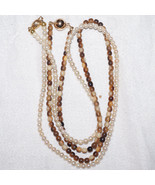 Antique Vintage 14k Gold Cultured Pearl & 14k Amber Bead Necklace Neckla... - $330.99
