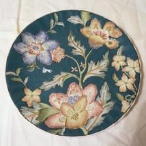 Vintage Heavy Pottery Porcelain Enamel Collector Floral Plate Heygill HP... - $49.99