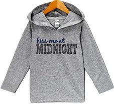 Custom Party Shop Boy's Kiss Me At Midnight New Years Eve Hoodie Pullover 2T ... - $22.05