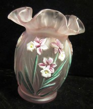 GORGEOUS FENTON  HAND PAINTED  95TH ANNIVERSARY... - $96.67