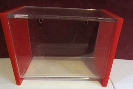 VINTAGE RED AND CLEAR ACRYLIC RECIPE BOX WITH RECIPES - $53.22
