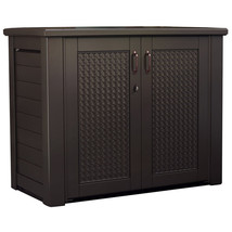 Rubbermaid 123  Deck Outdoor Storage Box Cabinet Patio Bench Furniture G... - $446.03