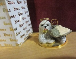 OLD ENGLISH SHEEP DOG ANGEL - Tiny One Ornament  - new in box - $13.07