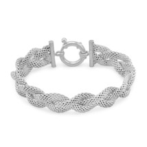 Women's Sterling Silver Braided Mesh Bracelet - $199.99