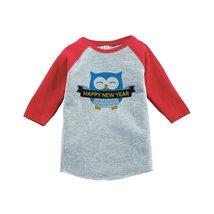 Custom Party Shop Kids Owl Happy New Year Raglan Red 5T - $20.58