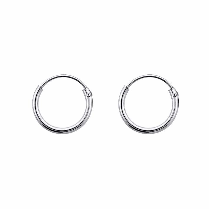 10mm Silver Hoop Earrings 45af8cb67215
