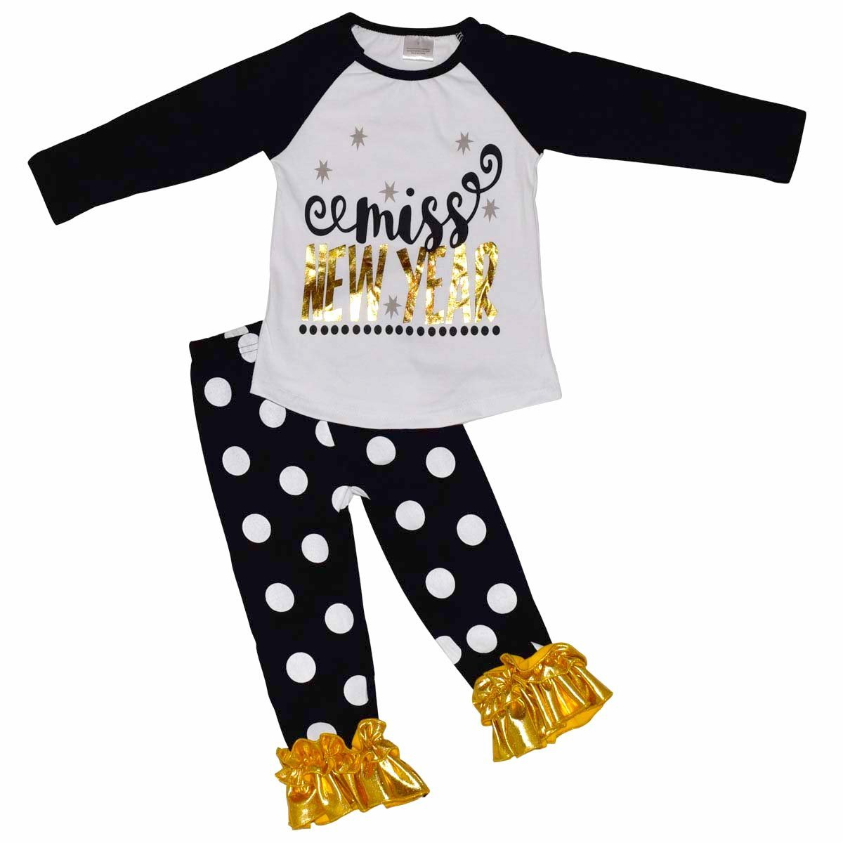 Unique Baby Girls Miss New Year Outfit (8/XXXL, Black)
