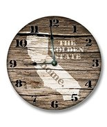"""CALIFORNIA State HOMELAND CLOCK - The Golden State - Large 10.5"""" Wall Cl... - $20.69"""