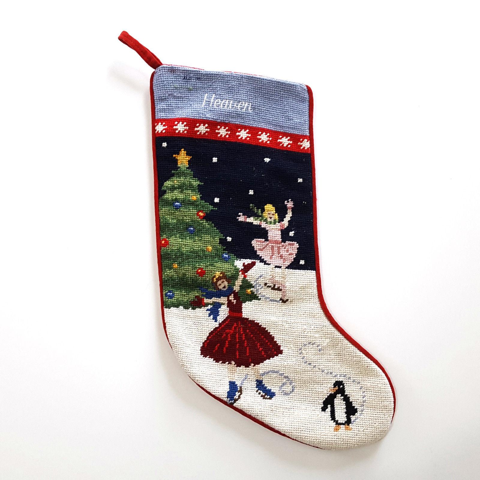 Lands End Needlepoint Christmas Stocking and similar items