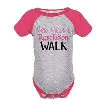 Custom Party Shop Baby's New Years Resolution Onepiece Pink 6 Months - $20.58