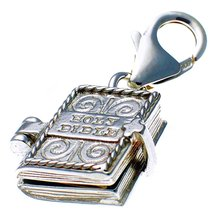 Welded Bliss Sterling 925 Silver Clip On Charm Bible Book Opening to Lor... - $29.40