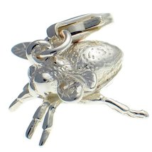 Sterling 925 Silver Bee Clip On Charm Pendant. Handmade by Welded Bliss ... - $27.44