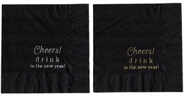 50 New Years Party Personalized Beverage Cocktail Napkins In 24 Hours (No Logo) - $15.35