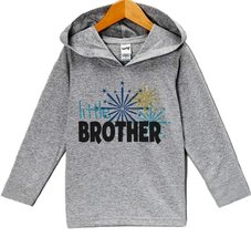 Custom Party Shop Boy's Little Brother New Years Eve Hoodie Pullover 3T Grey - $22.05