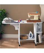 Sewing Table Folding Rolling Hobby Craft Cart S... - $748.49
